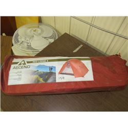 "ASCEND Red Lodge 4 man tent, 8'2"" X 6' 8"" , Bass Pro return as is"