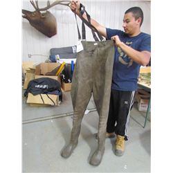 RUBBER chest waders, size 9, brown, returned