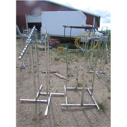 "DISPLAY Racks  for clothes qty 2  54"" high"
