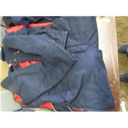 WORK KING lined coveralls, Large; 3 - size 34 sweat pants 1 XL Sweat pants; 3 - 34x30 Wrangler jeans