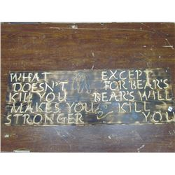 """WOODEN sign """" What Doesn't Kill You..."""""""