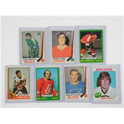 Lot (7) Vintage Hockey Cards (SCR)