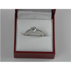 925 Sterling Silver Solitaire Ring with Swarovski