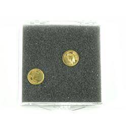 Estate Lot 2 Mini Gold Coins, .9999 Fine Silver, b