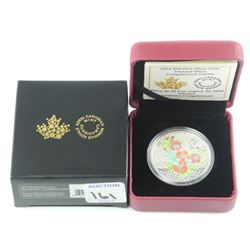 .9999 Fine Silver $20.00 Coin 'HIGH-TECH Stained G