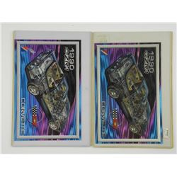 Lot (2) Corvette 1990 ZR1 Cards (KR)