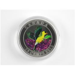 2010 - 25 Cent Coloured Coin 'GOLDFINCH' SOLD OUT.