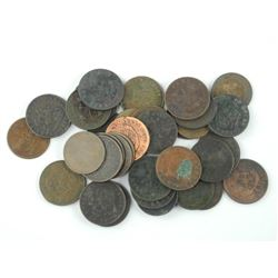 Lot (33) BRETON TOKENS Estate - Unsearched 1800s.