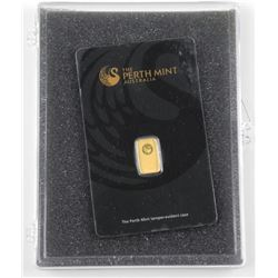 .999 Fine Pure Gold Bar with Serial No.