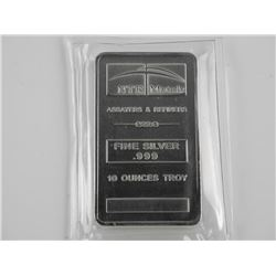 .9999 Fine Silver Collector Bullion 10 Ounce Troy