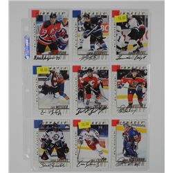 Lot (9) Signed Hockey Cards