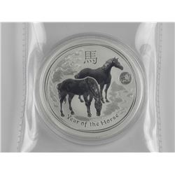 .9999 Fine Silver Year of The Horse Coin.