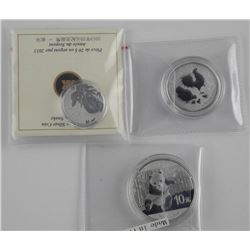 Lot (3) .9999 Fine SIlver Collector Bullion Rounds