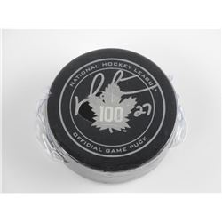 NHL - Game Puck 100 Years Centennial Signed 'Darry