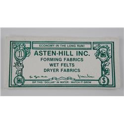 ASTEN HELL INC 1982 - Dollar Fabric Note Watch it