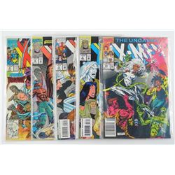 Lot (5) XMEN Vintage Comic books. CAT 235