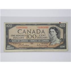 Estate Bank of Canada 1954 One Hundred Dollar Note