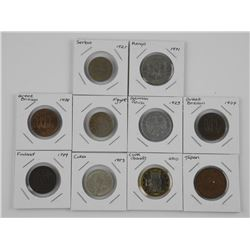 Lot (10) World Coins - Mixed.