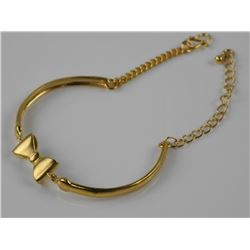 Ladies - Bow Bracelet 24kt Gold Layered, Plated (E