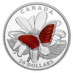 .9999 Fine Silver $20.00 Coin 'Wings of a Butterfl