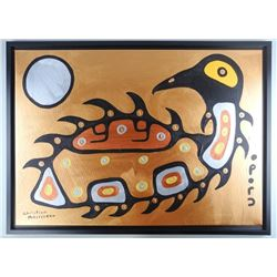 Christian Morrisseau (1969-) 'Crying Loon' Signed