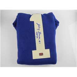 Johnny Bower - Scarce 'Wool Sweater' Signed. (EXR)