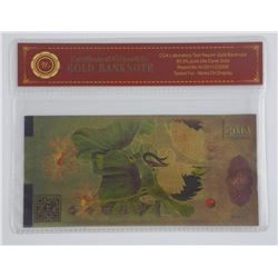 2013 - 24kt Gold Leaf Test Note Chine '100'.