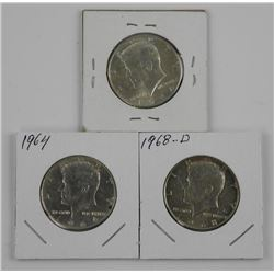 Lot (3) Kennedy Half Dollar.