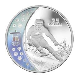 2007 - .925 Sterling Silver $25.00 Coin, Olympic '