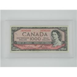 Bank of Canada 1954 $1,000. A/K.