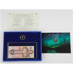 Lot - 1996 Canada 2.00 Proof Coin and Bank Note Se