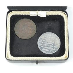 Vintage Case with 2 Coins Table Mountain - Aerial