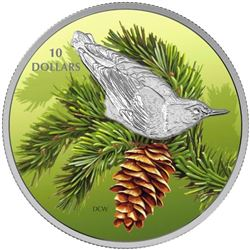 2017 $10 Birds Among Nature's Colours: Nuthatch -