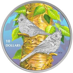 2017 $10 Birds Among Nature's Colours: Tufted Titm
