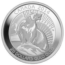 2014 $20 The Wolverine - Pure Silver Coin