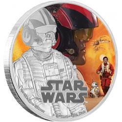 Fine Silver Coloured Coin Star Wars: The Force Awa