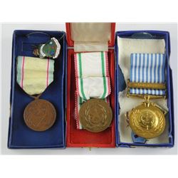 Lot (3) Boxes Estate Medals and Badges