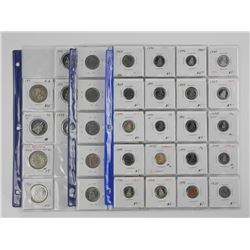 Lot (53) Canada coins - Dealer Store Inventory. Id