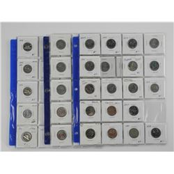 Lot (57) Canada Coins in 2x2's. Sheets, Dealer Sto