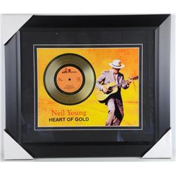 Neil Young Gold Record Heart of Gold - Framed. Est