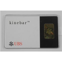 .9999 Fine Pure Gold Bar 2 Grams with Serial Numbe