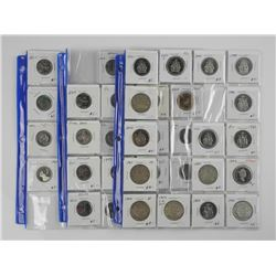 Lot (3) Pages (46) Coins Canada Dealer Binder Stoc