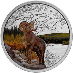 2015 $20.00 Bighorn Sheep - Pure Silver Coin *SOLD