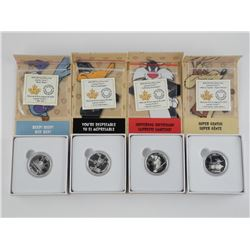 Lot (4) Looney Tunes .9999 Fine Silver $10.00 Coin