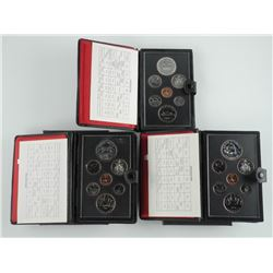 Lot (3) Double Dollar Coin Sets with Silver