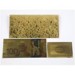 24kt Gold Leaf - Canada $10.00 with C.O.A. and Env
