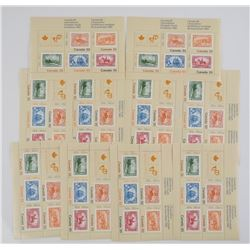 Lot (10) Sheets Canada Stamps 1982