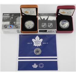 Lot (3) .9999 Fine Silver Coins - Johnny Bower, So