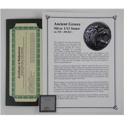 Ancient Greece - Silver 1/12 Stater. CQ 525 - 494