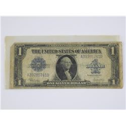 USA Series 1923 $1.00 Silver Certificate Blue Seal